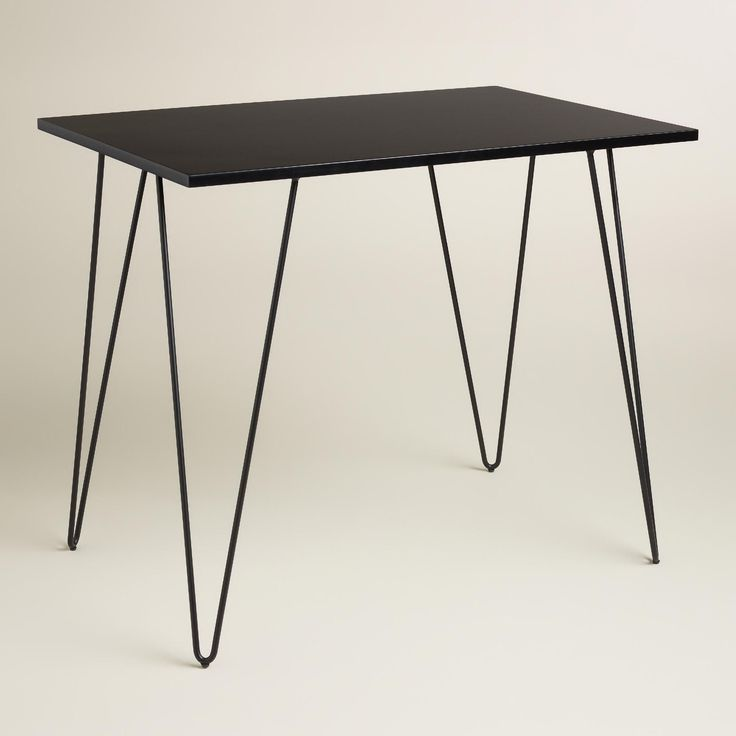A Compact Work Surface For Small Spaces, Our On Trend Hairpin Desk Exudes A