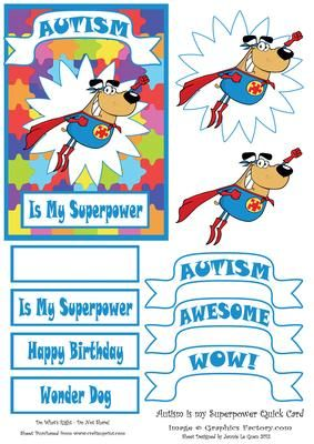 Autism is my Super Power on Craftsuprint - Add To Basket!