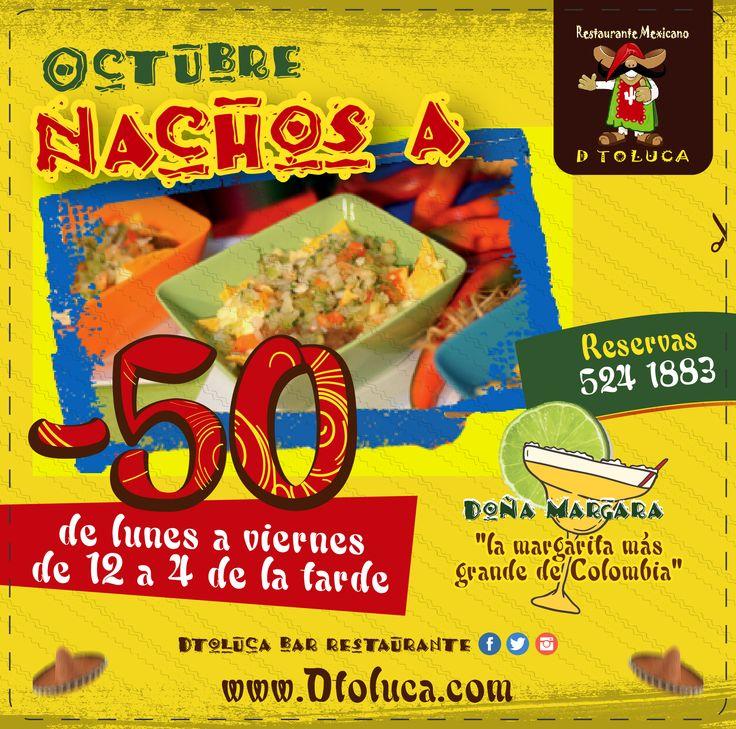 Descuento -50% en #Nachos #ComidaMexicana