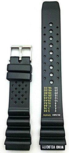 20mm Black Rubber Watch Band -- Thick and Durable PVC Material. QUALITY REPLACEMENT BAND: This watchstrap perfectly balances fresh fashion with feasible function. Made of durable PVC material, this band will instantly bring new life to your watch. Try this stylish look today!. DIMENSIONS FOR BEST FIT: Fitness is key, so to find the optimal fit for your watch, make sure to measure your watch's exact lug width or the spring bars/pins will not fit. You may also consider searching online for…