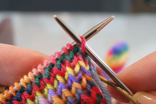 Invisible k1p1 bind-off tutorial #knitting