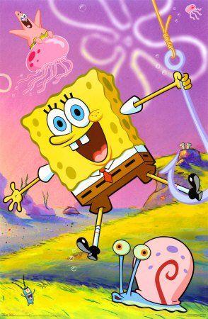(22x34) SpongeBob SquarePants (Swinging on Hook) TV Poster Print @ niftywarehouse.com #NiftyWarehouse #Spongebob #SpongebobSquarepants #Cartoon #TV #Show