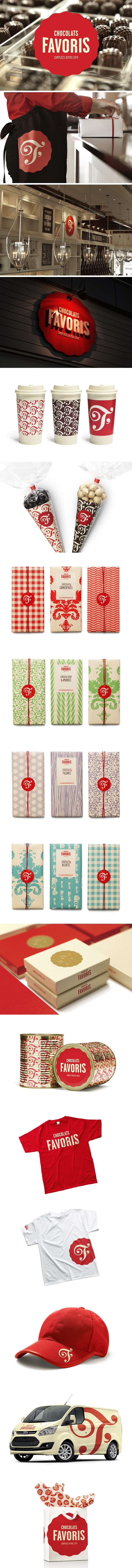 Chocolats Favoris identity and packaging by lg2