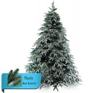 Δέντρο Mountain Frost 240cm πράσινο χιονισμένο plastic flocked