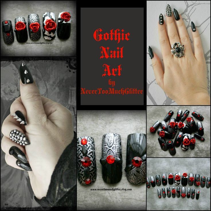 ABOUT — Gothic Nail Art by NeverTooMuchGlitter - 28 Best Nail Designs Images On Pinterest Gothic Nail Art, Nail