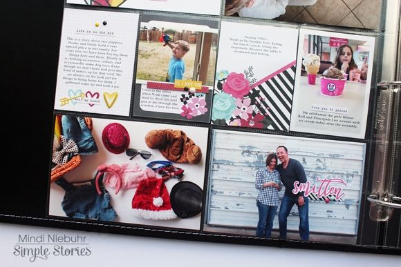 Love & Adore pocket page spread from creative team member Mindi Niebuhr