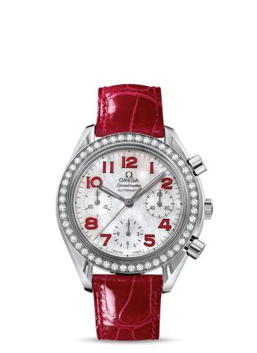 3835.79.40 : Omega Speedmaster Reduced Ladies Red / Diamond Bezel