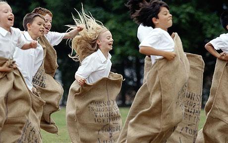 Sack race at school sports day! #school #sports.