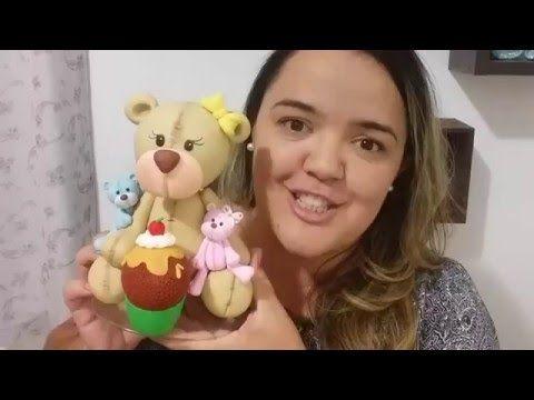 Aprenda a fazer um ursinho de biscuit - YouTube