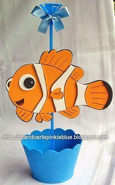 Pinkie Blue Artigos para festa: Nemo eva -centro de mesa