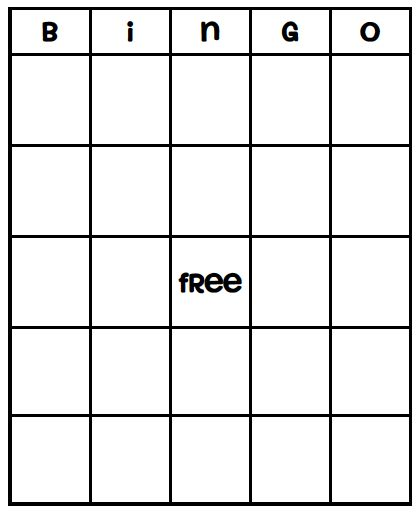 Blank Bingo Card Template - Every Bingo Game ever imagined has been created - Use for Dr. Seuss Week!