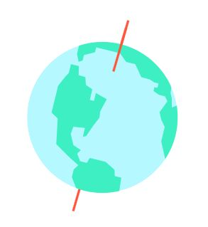 The Earth's axial tilt of 23.5° causes the Sun to rise earlier in the summer and later in the winter. Determine the latitude at which sunrise time in the middle of summer is precisely 2 hours earlier than in the middle of winter. Round your answer to the nearest tenth of a degree North. Answer at Expii.