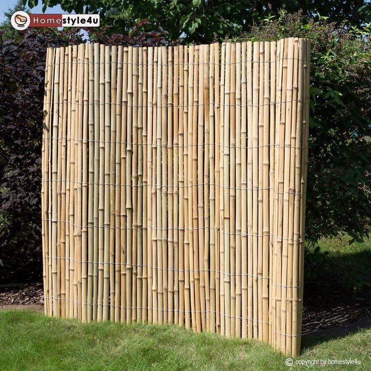 Bambuszaun Sichtschutz Holzzaun Bambusmatte Gartenzaun Sichtschutzmatte Bambus