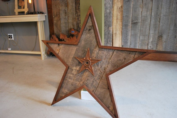Star Wall Decor Ideas: Barn Wood Star Wall Art By Tmorrowsantiques On Etsy, $135