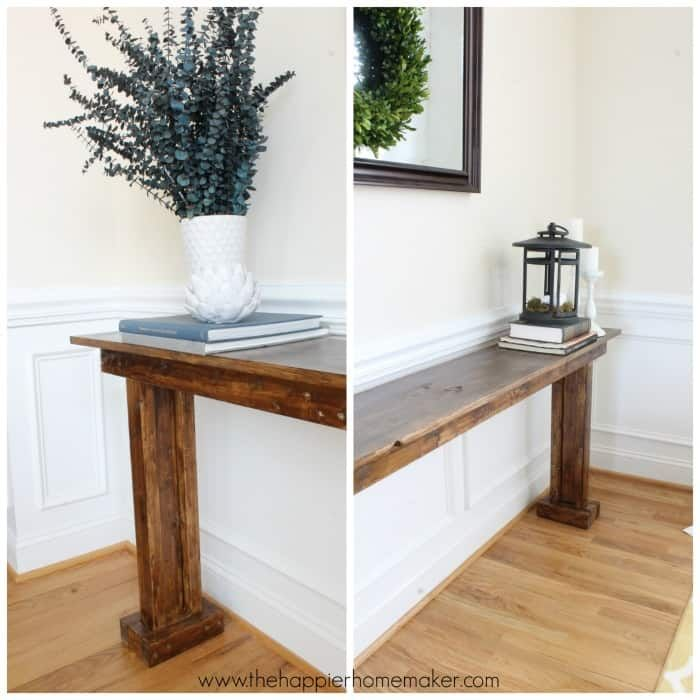 Console Table For Under 30 Featuring The Happier Homemaker Ana White Diy Console Table Simple Sofa Table Diy Console