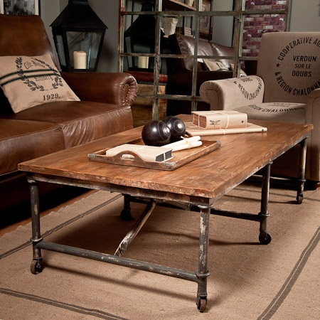 Scaffold Pole Coffee Table. Great as a table base for on the deck !
