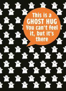 This is a ghost hug, you can't feel it, but it's there! #Hallmark #HallmarkNL #versvandepers #vvdp #halloween