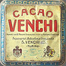 Coperchio della latta Cacao Venchi. Fonte: www.alte-dorsen.de