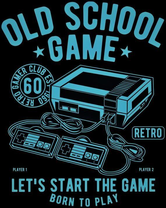 Gaming Poster Old School Game Present For Gamer Game Room Decor Retro Game Poster Videojuegos Retro Mejores Fondos De Pantalla De Videojuegos Camisetas