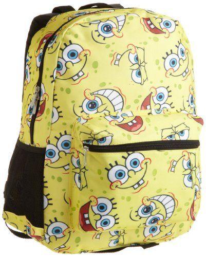 Nickelodeon Girls 7-16 Allover Spongebob Print Backpack, Yellow, One Size Nickelodeon. $25.98