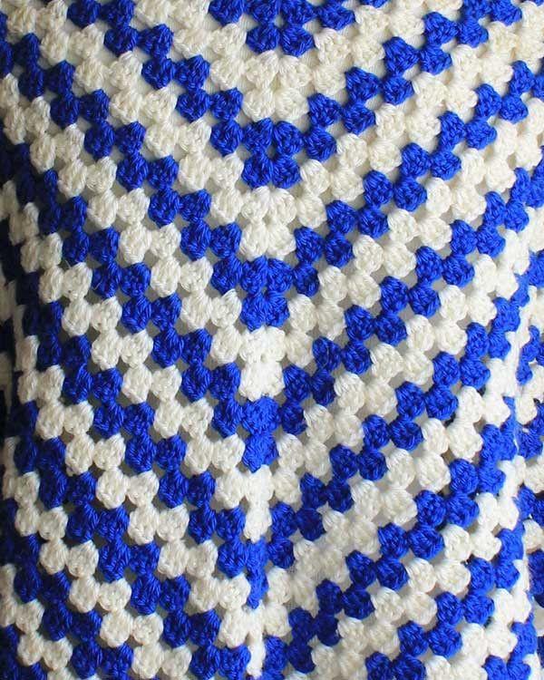Vintage Granny Rows Capelet Crochet Pattern