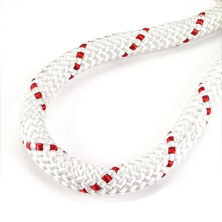 PMI Max-Wear Sport 11mm Static Rope White/Red 7/16 In