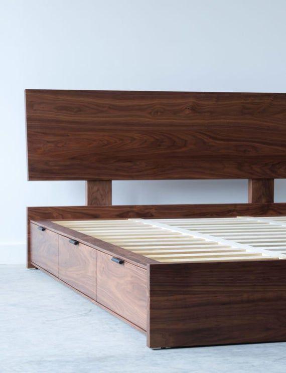 Hudson Bed Solid Wood Tempat Tidur Dipan Dan Dekorasi