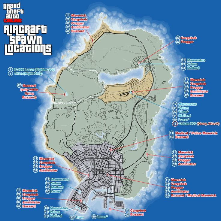 gta aircraft spawn locations on map with req levels Gta