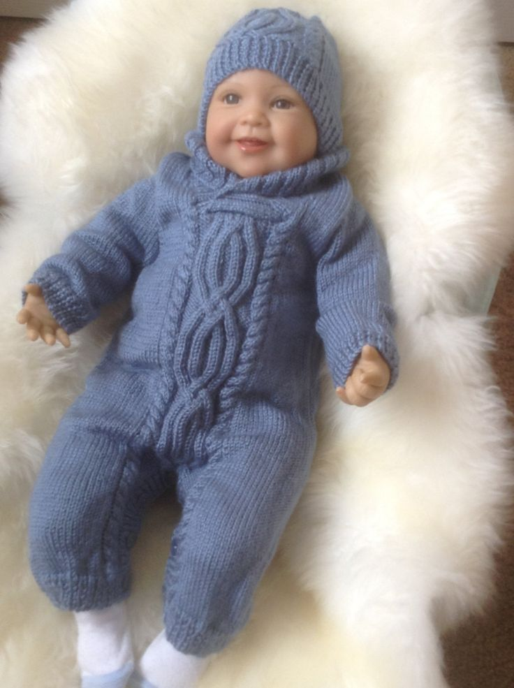 A personal favourite from my Etsy shop https://www.etsy.com/uk/listing/246898816/cable-knit-snowsuit-in-blue-with