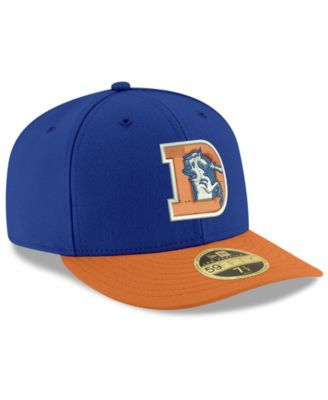 New Era Denver Broncos Team Basic Low Profile 59FIFTY Fitted Cap - Blue 7 1/2