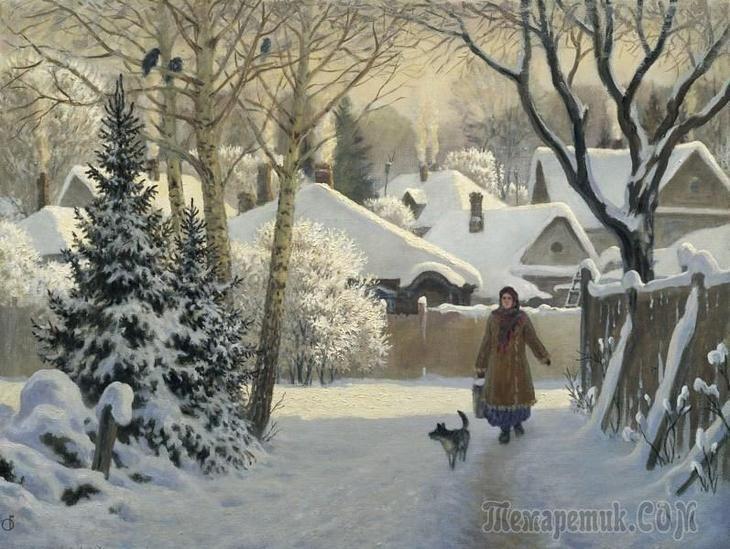 В предчувствии Рождества,пять картин русских художников