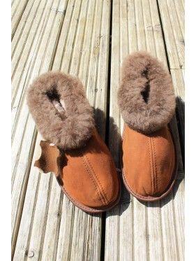 Ladies/Women Genuine Sheepskin Slippers - Fabandcosy.com