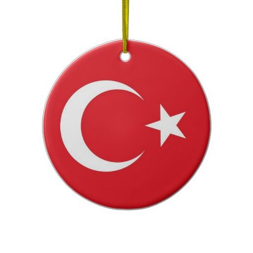 Ornament with flag of Turkey