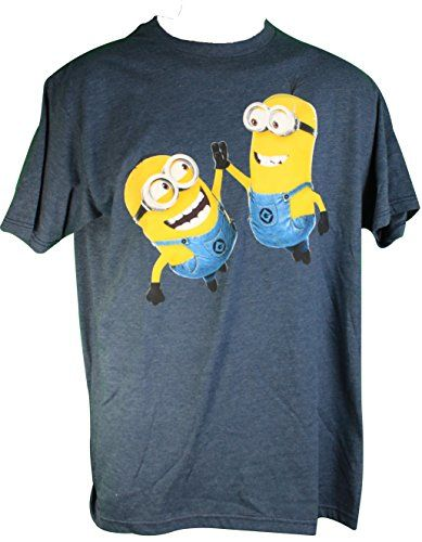 Despicable Me Mens Minions High Five Small Tee Shirt @ niftywarehouse.com #NiftyWarehouse #DespicableMe #Movie #Minions #Movies #Minion #Animated #Kids
