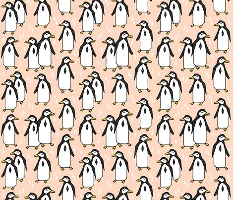 Penguin - Blush - andrea_lauren - Spoonflower