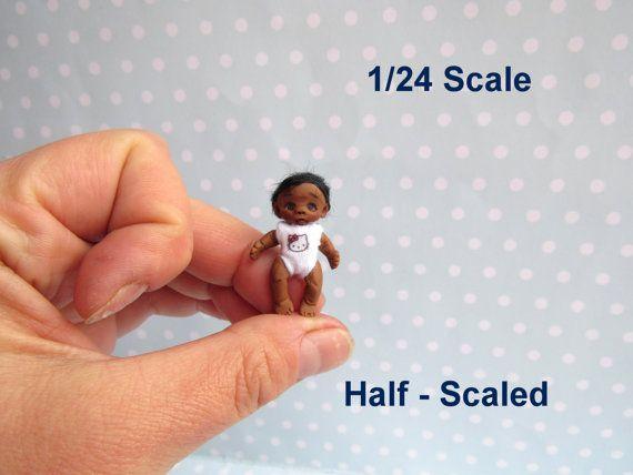 Künstlerpuppe MINI Baby half scale doll