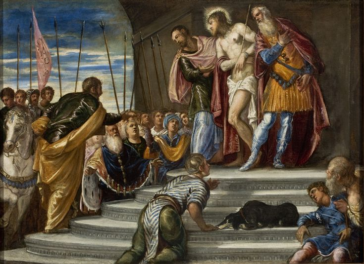 Ecce Homo(Pontius Pilate Presenting Christ to the Crowd  Jesus suffered, this day, for the everlasting Good of All People...