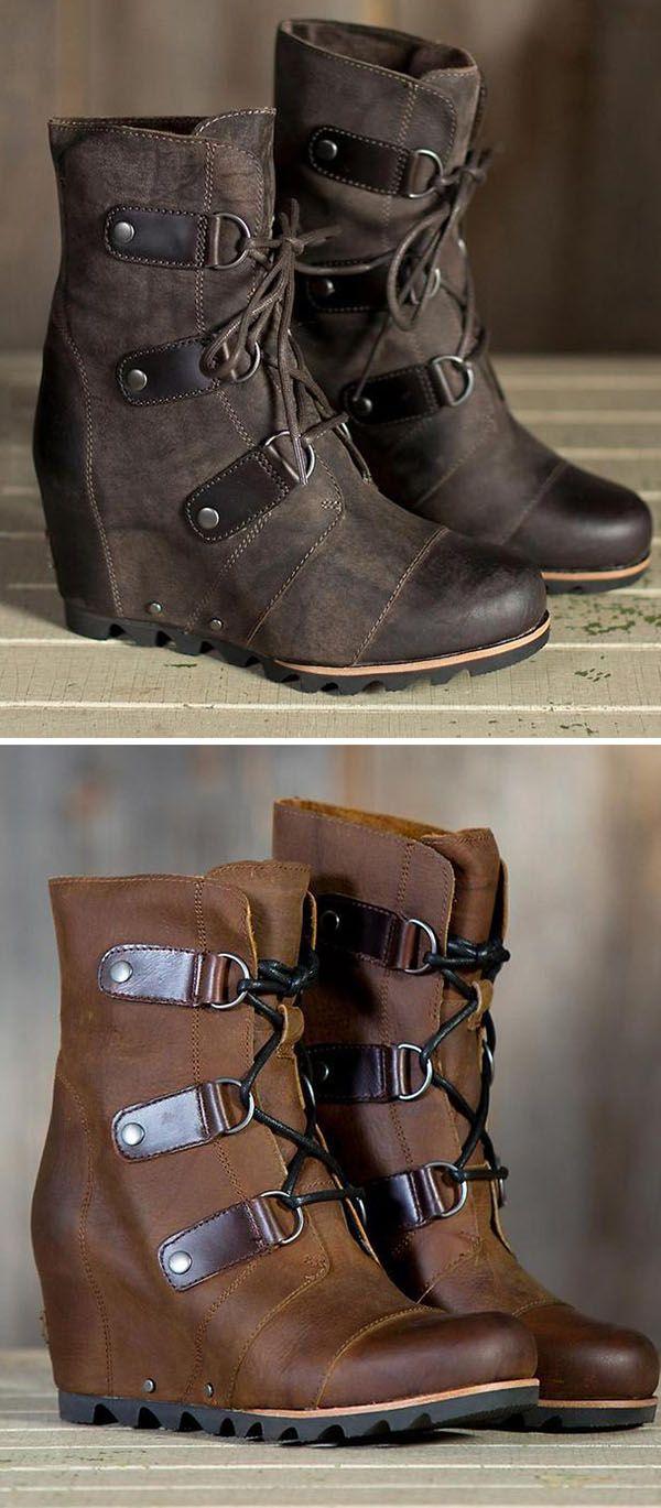 67d0ee91f67 Women s Wedge Mid Waterproof Faux Leather Boots in 2019