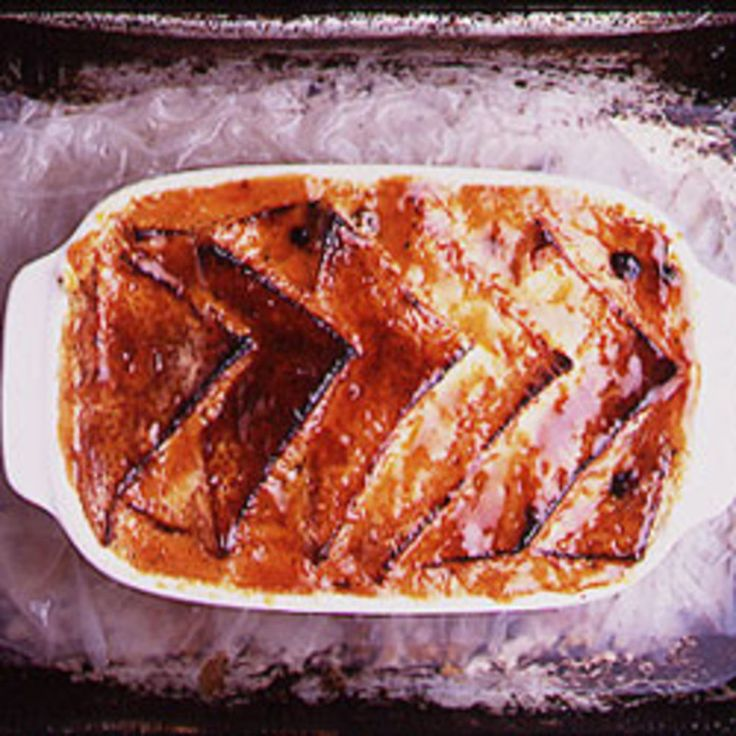 Bread and Butter Pudding Served with Clotted Cream and Compote of Apricots Recipe   SAVEUR