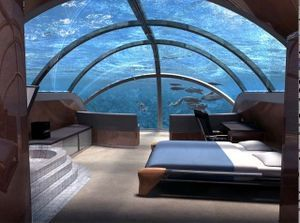 How COOL would it be to stay at a hotel that has rooms UNDER the ocean!?!