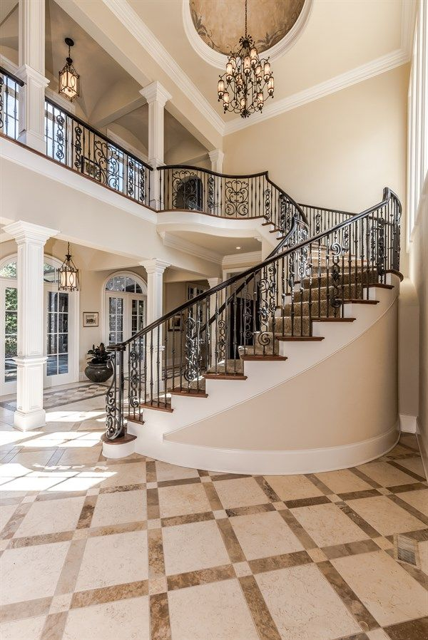Best 25 curved staircase ideas on pinterest entry for Double curved staircase