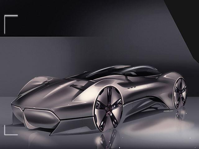 Las lineas conceptuales del Maserati Hommage muestran como podrían ser los coches de la marca en  2049