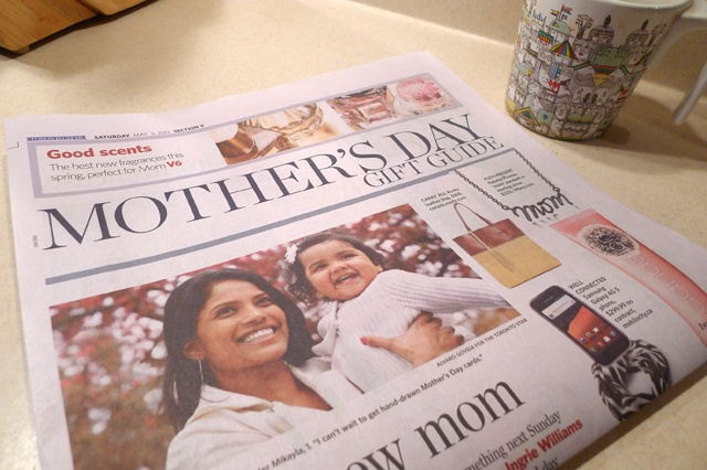 Last Saturday The Toronto Star published a gift guide for Mother's Day!