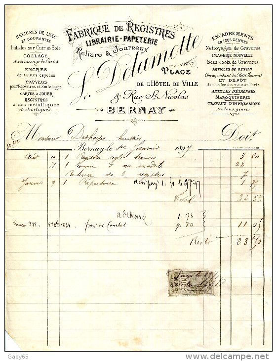 Old Paper > Invoices & Commercial documents > France / hotel - Delcampe.net