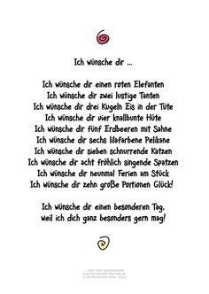 Die Persönliche Note: Ich wünsche dir ... Humorvolles Gedicht für Geburtstagsgrüße und andere Gelegenheiten