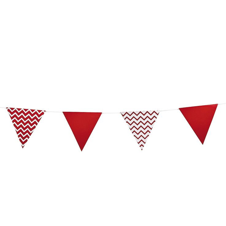 red chevron pennant banner this red. Black Bedroom Furniture Sets. Home Design Ideas