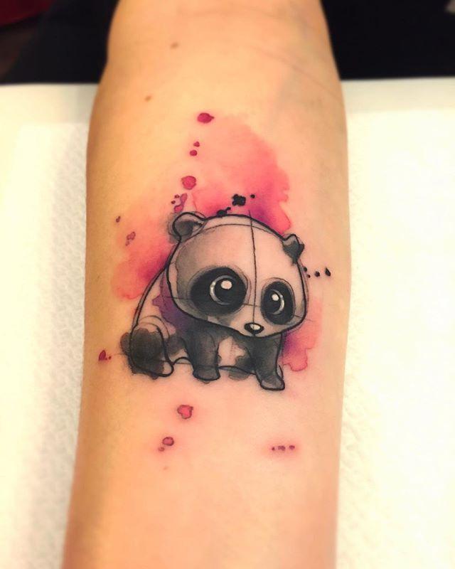 Watercolor Panda -  BORÀ TATTOO                                                                                                                                                                                 More