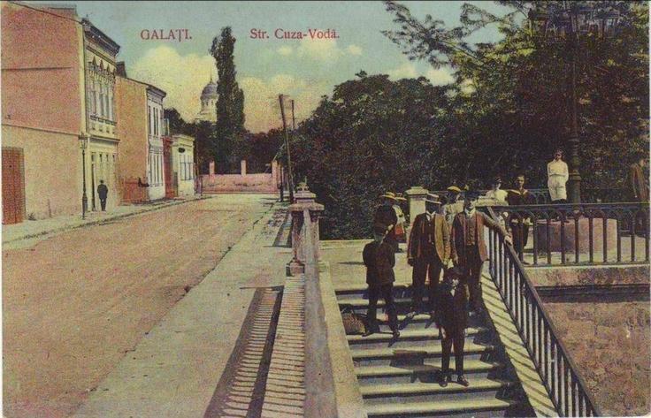 Galati - Str.Cuza Voda-treptele Moruzzi - interbelica