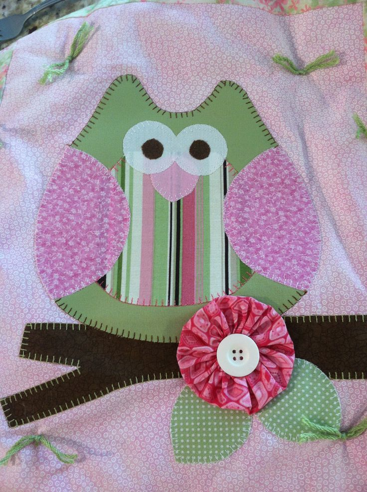 Baby owl quilt