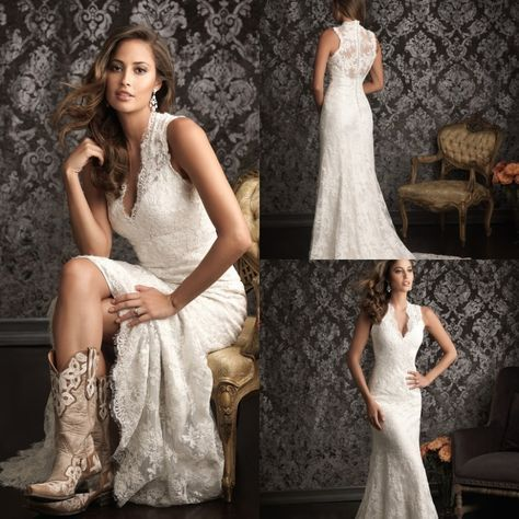 SPANISH LACE WEDDING DRESS   2015 Spanish Lace Wedding Dresses Country Western Vestidos De Novia ...
